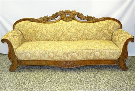 Antique Wooden Sofa by Fabulous Antique Early19c American Empire Philadelphia