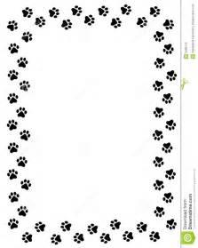Cat Paw Print Border Clip Art