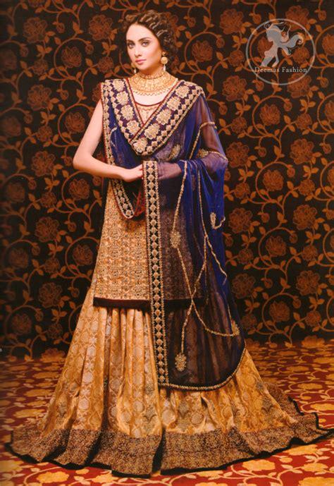 golden royal blue bridal dress latest designer dresses