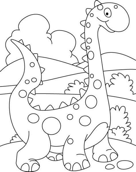 simple dinosaur coloring pages for kids