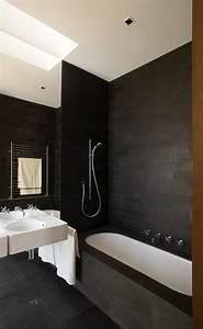 10 idees deco salles de bain noir et blanc contemporaines With salle de bains noire