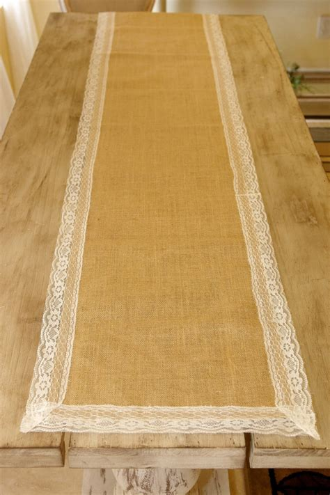 burlap table runner with lace burlap lace table runner 16 x 74in