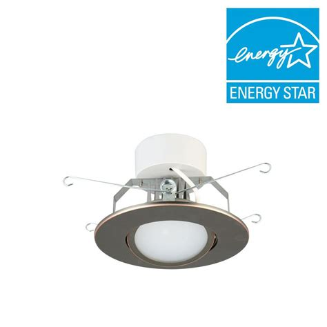 bronze led recessed lighting lithonia lighting 5 in brushed oil rubbed bronze led