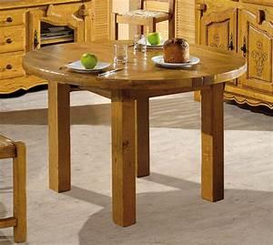 Table Ronde En Chene : table ronde chene aravis meubles ~ Teatrodelosmanantiales.com Idées de Décoration