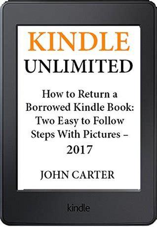 kindle unlimited   return  borrowed kindle book