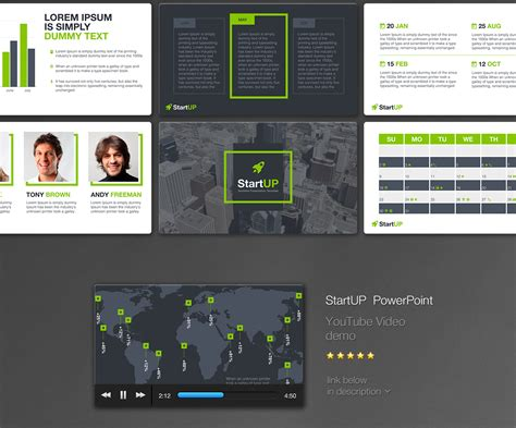 startup powerpoint template  business