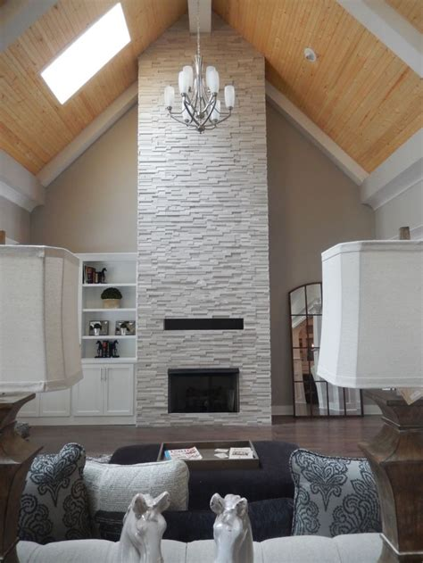 realstone tile fireplace   louisville tile