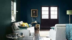 Mur Bleu Pétrole : salon bleu p trole bleu canard et bleu paon ~ Melissatoandfro.com Idées de Décoration
