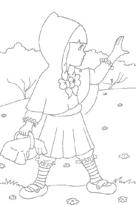 disegni  bambini da stampare  colorare cappuccetto