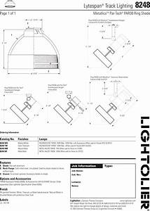 Lightolier Lytespan Track Lighting 8248 Users Manual