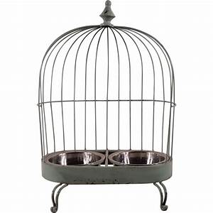 Vintage Birdcage Double Dog Bowl SOLD | Ruby Lane