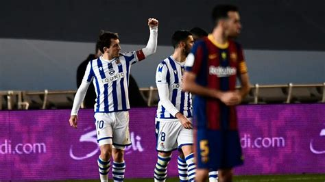 Real Sociedad 1-1 Barcelona (2-3 on pens): Marc-Andre Ter ...