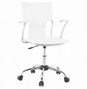 Bureau Sur Roulette : fauteuil de bureau evo blanc sur roulettes ~ Teatrodelosmanantiales.com Idées de Décoration