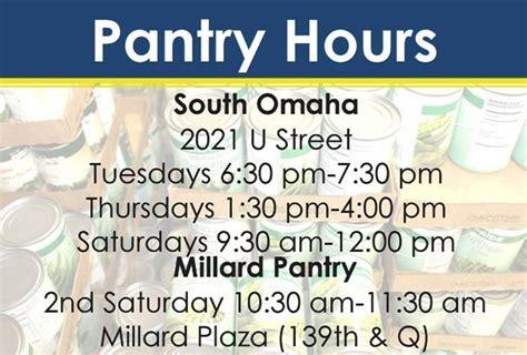 Food Pantry Hours Food Pantry
