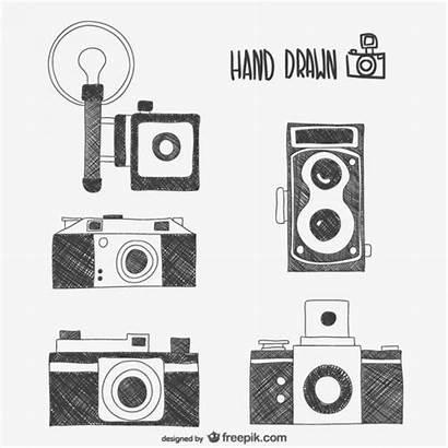 Retro Cameras Drawings Vector Camera Vectors Polaroid