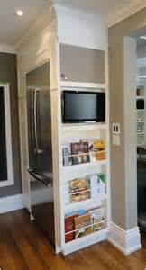 kitchen tv ideas how to hack the empty space around your fridge