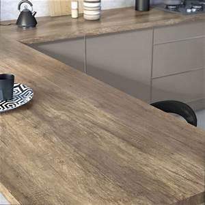 Plan De Travail En Bois : cuisine bois plan de travail cuisine bois vieilli ~ Dailycaller-alerts.com Idées de Décoration