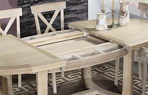 Table Bois Blanchi : table de ferme ovale tom en ch ne massif de style ~ Teatrodelosmanantiales.com Idées de Décoration