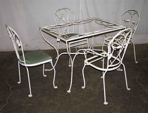 salterini iron patio furniture salterini wrought iron patio table chairs olde things