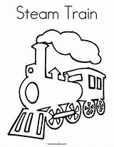 Train Steam Coloring Outline Engine Drawing Twistynoodle Simple Template Preschoolers Railroad Would Colouring Trains Printable Sheets Preschool Clipart Noodle Usa sketch template
