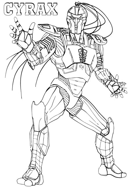 mortal kombat coloring pages coloring pages