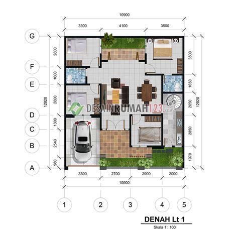 desain rumah  lantai  lahan     dr