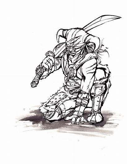 Skyrim Dragonborn Line Mycks Sumie Fan Deviantart