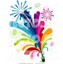 Rainbow Fireworks Clip Art