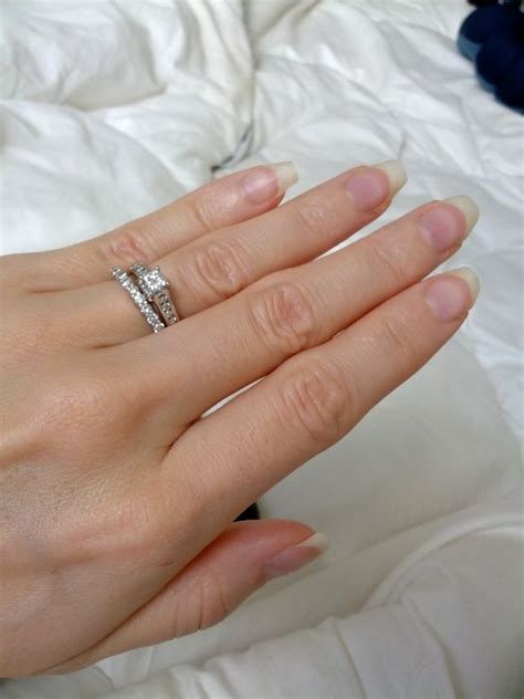 our wedding rings and my together heavy
