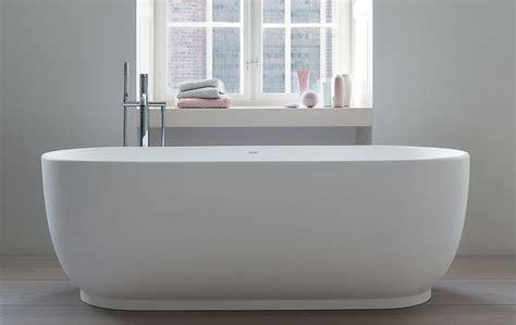 vasca da bagno da appoggio duravit la linea disegnata da cecilie manz la casa