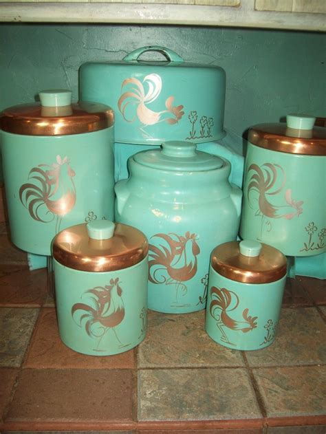 fashioned kitchen canisters 469 best images about turquoise kitchen vintage style on
