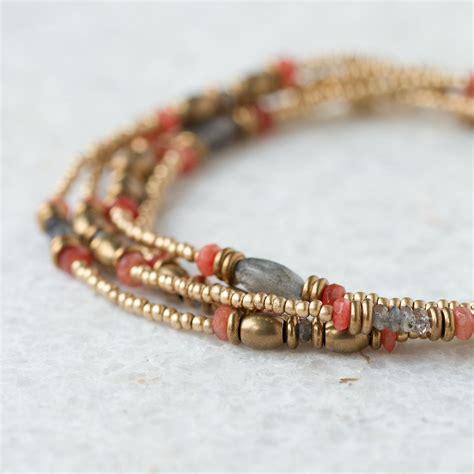stone bead wrap bracelet jewelry jewelry beaded