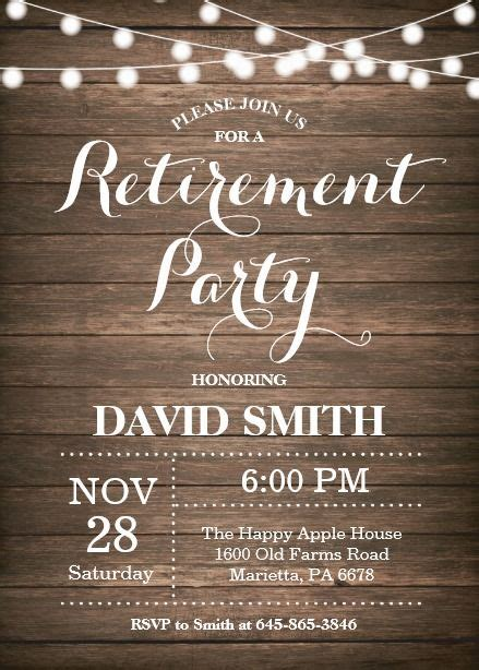 rustic retirement party invitation card retirement party