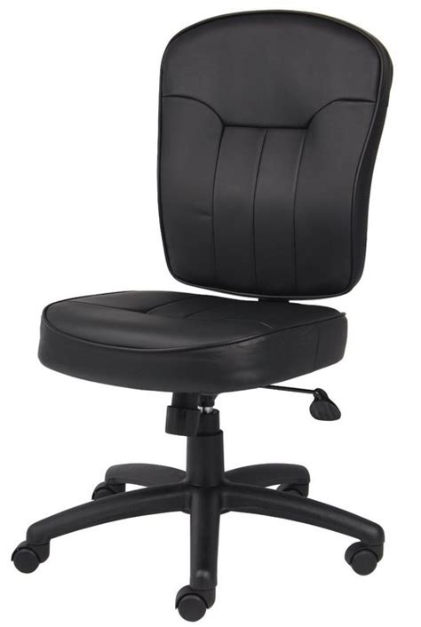 leather office chairs no arms best computer chairs for