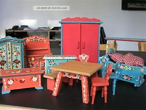 70er Jahre Möbel : alte m bel puppenstube holz bauernstube handbemalt 70er jahre 13 tlg ~ Markanthonyermac.com Haus und Dekorationen