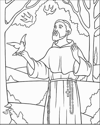 Coloring Saints Activity