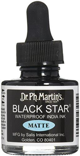 dr ph martins black star india ink  oz black