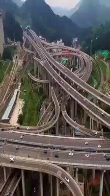 Qianchun Interchange by This Interchange In China Awesome Beautiful Roads