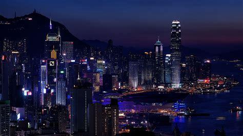 wallpaper  night city city lights