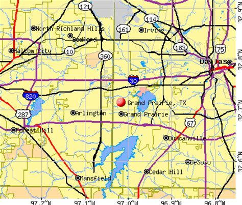 grand prairie texas map