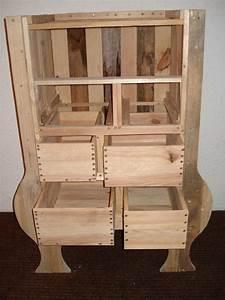 Plan Meuble Palette : commode en bois palette creation palette ~ Dallasstarsshop.com Idées de Décoration