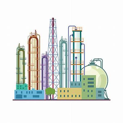 Chemical Plant Illustration Vector Refinery Clip Clipart
