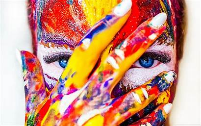 Colorful Paint Eyes Wallpapers Desktop Background Tablet