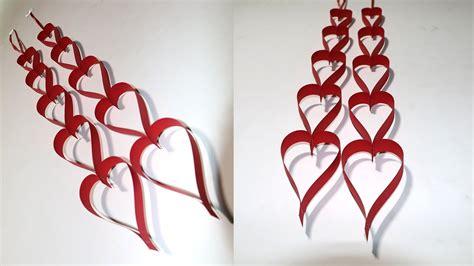 DIY Valentine Paper Heart Crafts
