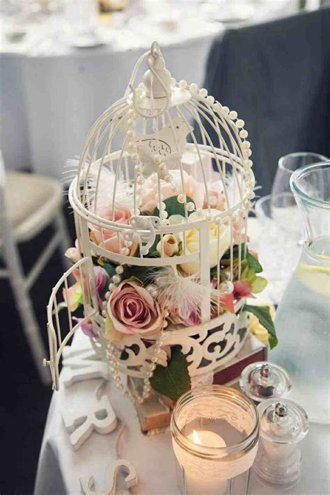 shabby chic tableware birdcage table decoration wedding shabby chic dusky pink