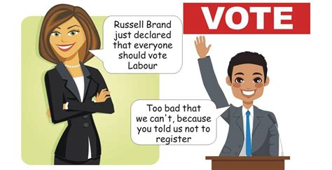 russell brand vote russell brand just declared that everyone should vote