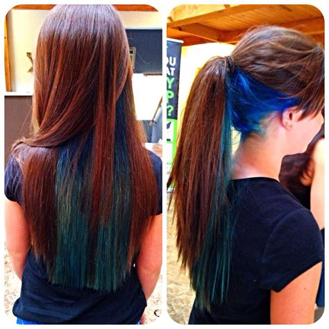 Blue And Teal Under Layer Bright Longhair Colors