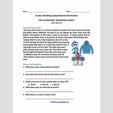 Incredible Growing Jacket Second Grade Reading Worksheets  Dis 3rd  2nd Grade Reading