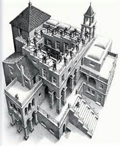 Maurits Cornelis Escher Escalier vision dans l espace