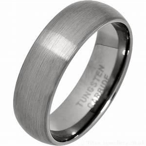 Men39s 7mm Brushed Tungsten Carbide Wedding Ring